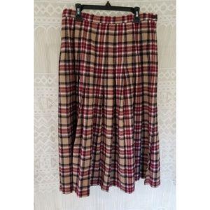 Pendleton 100% Wool Pleaded Vintage Skirt Size 10